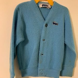Boys vintage izod sweater sz 3 light blue acrylic